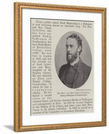 The Honourable and Reverend Canon Lyttelton, Bishop Suffragan of Southampton--Framed Giclee Print