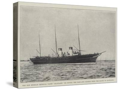 The New Russian Imperial Yacht Standart, to Convey the Czar and Czarina from the Baltic to Scotland--Stretched Canvas Print