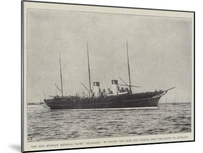 The New Russian Imperial Yacht Standart, to Convey the Czar and Czarina from the Baltic to Scotland--Mounted Giclee Print