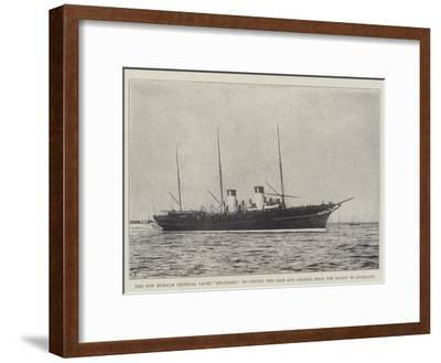 The New Russian Imperial Yacht Standart, to Convey the Czar and Czarina from the Baltic to Scotland--Framed Giclee Print