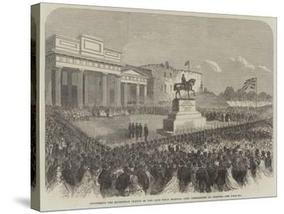 Uncovering the Equestrian Statue of the Late Field Marshal Lord Combermere at Chester--Stretched Canvas Print