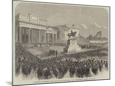 Uncovering the Equestrian Statue of the Late Field Marshal Lord Combermere at Chester--Mounted Giclee Print