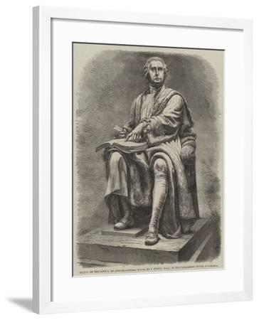 Statue of the Late Lord Justice-General Boyle, by J Steell, Rsa, in the Parliament House, Edinburgh--Framed Giclee Print