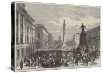 The Trades Unions Reform Demonstration on Monday Last, Scene in Waterloo-Place--Stretched Canvas Print