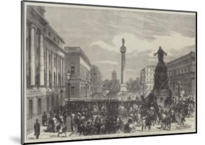 The Trades Unions Reform Demonstration on Monday Last, Scene in Waterloo-Place--Mounted Giclee Print