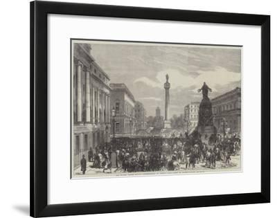 The Trades Unions Reform Demonstration on Monday Last, Scene in Waterloo-Place--Framed Giclee Print