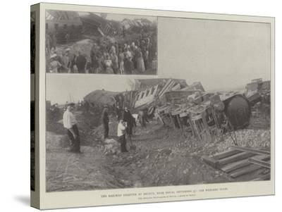 The Railway Disaster at Arleux, Near Douai, 27 September, the Wrecked Train--Stretched Canvas Print