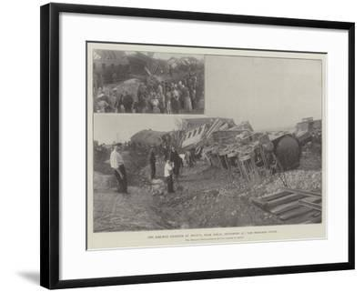 The Railway Disaster at Arleux, Near Douai, 27 September, the Wrecked Train--Framed Giclee Print
