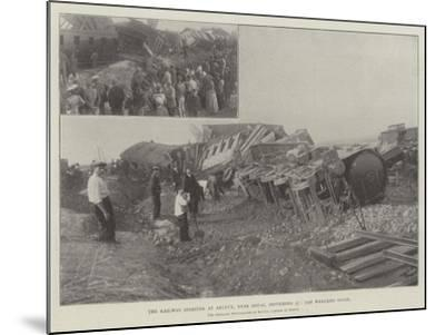 The Railway Disaster at Arleux, Near Douai, 27 September, the Wrecked Train--Mounted Giclee Print