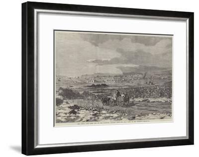 The Great Salt Lake City of the Mormons, Looking West, the Salt Lake in the Distance--Framed Giclee Print