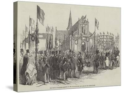 The Fete at Boulogne, Concert in the Place D'Alton, and Arch in the Grand Place--Stretched Canvas Print