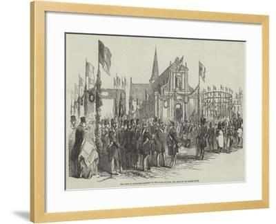 The Fete at Boulogne, Concert in the Place D'Alton, and Arch in the Grand Place--Framed Giclee Print