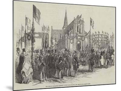 The Fete at Boulogne, Concert in the Place D'Alton, and Arch in the Grand Place--Mounted Giclee Print