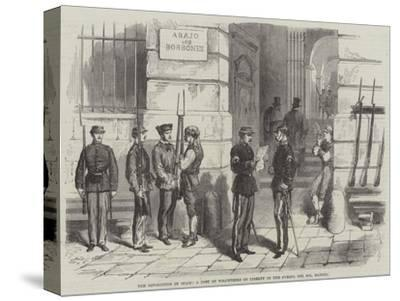 The Revolution in Spain, a Post of Volunteers of Liberty in the Puerta Del Sol, Madrid--Stretched Canvas Print