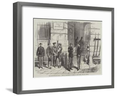 The Revolution in Spain, a Post of Volunteers of Liberty in the Puerta Del Sol, Madrid--Framed Giclee Print
