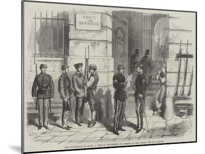 The Revolution in Spain, a Post of Volunteers of Liberty in the Puerta Del Sol, Madrid--Mounted Giclee Print