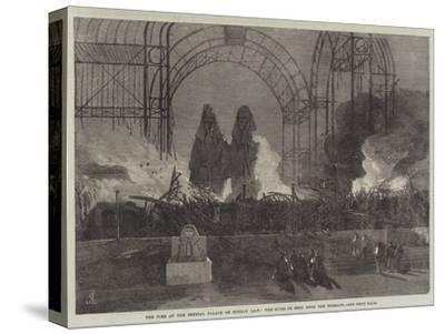 The Fire at the Crystal Palace on Sunday Last, the Ruins as Seen from the Terrace--Stretched Canvas Print