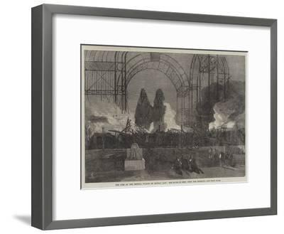 The Fire at the Crystal Palace on Sunday Last, the Ruins as Seen from the Terrace--Framed Giclee Print