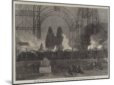 The Fire at the Crystal Palace on Sunday Last, the Ruins as Seen from the Terrace--Mounted Giclee Print