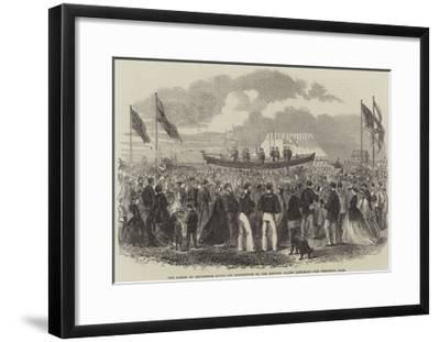 The Bishop of Chichester Giving His Benediction to the Hayling Island Life-Boat--Framed Giclee Print