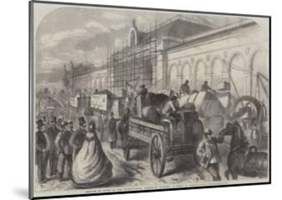 Arrival of Goods at the International Exhibition Building, a Scene in Cromwell-Road--Mounted Giclee Print