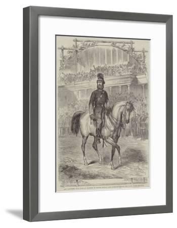 The Volunteer Sham Fight at Brighton on Easter Monday, Lord Ranelagh Passing the Grand Stand--Framed Giclee Print