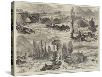 The Floods in France, Valley of Campan, on the Adour, Near Bagneres De Bigorre--Stretched Canvas Print