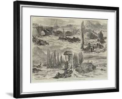 The Floods in France, Valley of Campan, on the Adour, Near Bagneres De Bigorre--Framed Giclee Print