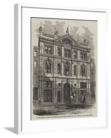 Newly-Erected Offices of the Peninsular and Oriental Steam Navigation Company, Leadenhall-Street--Framed Giclee Print