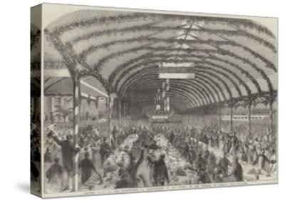 Dinner Given by the Marchioness of Londonderry to 3000 Pitmen, in the Grounds of Seaham Hall--Stretched Canvas Print