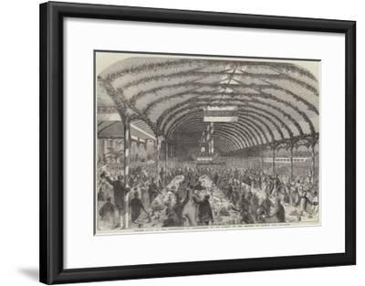 Dinner Given by the Marchioness of Londonderry to 3000 Pitmen, in the Grounds of Seaham Hall--Framed Giclee Print