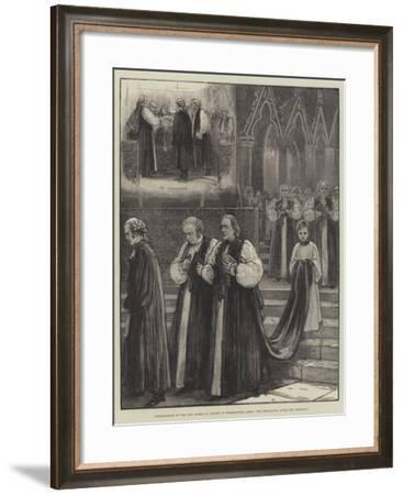 Consecration of the New Bishop of Sydney in Westminster Abbey, the Procession after the Ceremony--Framed Giclee Print