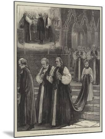Consecration of the New Bishop of Sydney in Westminster Abbey, the Procession after the Ceremony--Mounted Giclee Print