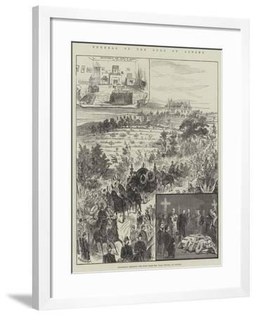 Funeral of the Duke of Albany, Procession Removing the Body from the Villa Nevada, at Cannes--Framed Giclee Print