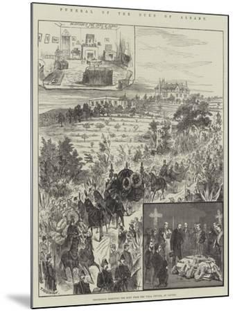 Funeral of the Duke of Albany, Procession Removing the Body from the Villa Nevada, at Cannes--Mounted Giclee Print