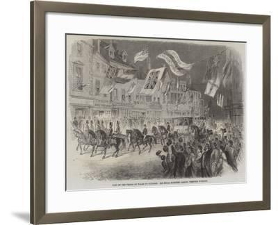 Visit of the Prince of Wales to Clumber, His Royal Highness Passing Through Worksop--Framed Giclee Print