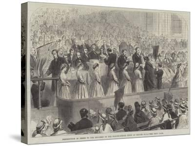Distribution of Prizes to the Children of the Ragged-School Union at Exeter Hall--Stretched Canvas Print