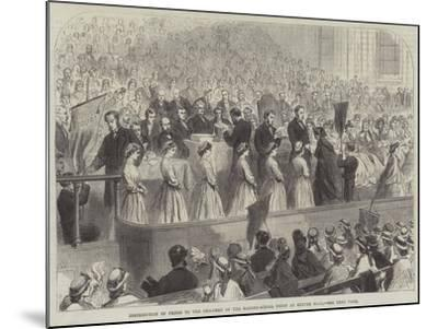 Distribution of Prizes to the Children of the Ragged-School Union at Exeter Hall--Mounted Giclee Print