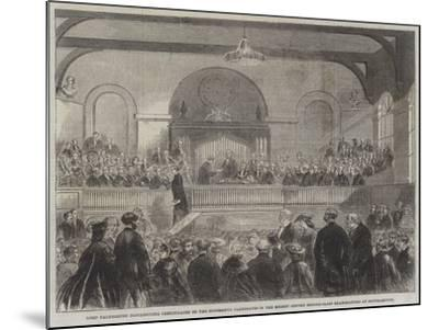 Lord Palmerston Distributing Certificates to the Successful Candidates in the Recent Oxford Middle---Mounted Giclee Print