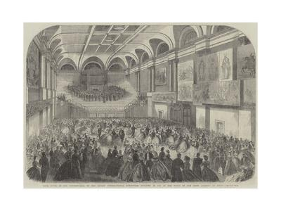 Ball Given in the Concert-Hall of the Dublin International Exhibition Building in Aid of the Funds --Framed Giclee Print