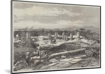 The Abyssinian Expedition, Ruins of the Ancient City of Adulis, Near the Landing-Place at Zulla--Mounted Giclee Print