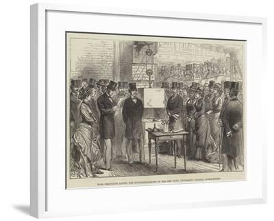 Earl Granville Laying the Foundation-Stone of the New Wing, University College, Gower-Street--Framed Giclee Print
