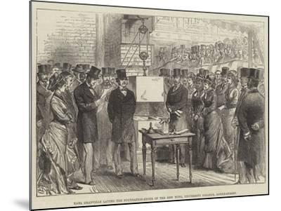 Earl Granville Laying the Foundation-Stone of the New Wing, University College, Gower-Street--Mounted Giclee Print