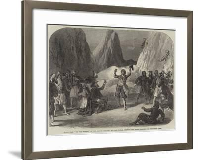 Scene from Rip Van Winkle, at the Adelphi Theatre, Rip Van Winkle Drinking the Magic Draught--Framed Giclee Print