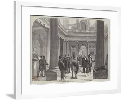 The Reform Club-House, Members Awaiting Intelligence of the Formation of the New Ministry--Framed Giclee Print