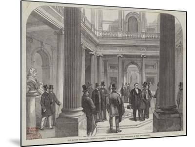 The Reform Club-House, Members Awaiting Intelligence of the Formation of the New Ministry--Mounted Giclee Print