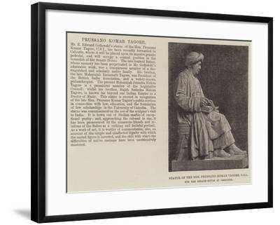 Statue of the Honourable Prussano Komar Tagore, Csi, for the Senate-House at Calcutta--Framed Giclee Print