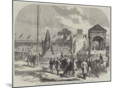 Inauguration of the Statue of the Late Prince Consort, in the Presence of Her Majesty, at Perth--Mounted Giclee Print