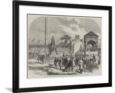 Inauguration of the Statue of the Late Prince Consort, in the Presence of Her Majesty, at Perth--Framed Giclee Print