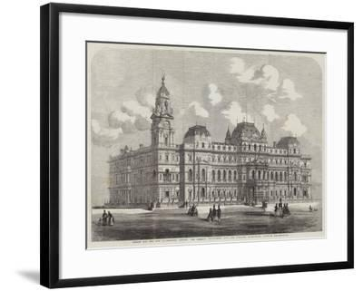Design for the New Government Offices, the Foreign Department (Coe and Hofland, Architects)--Framed Giclee Print